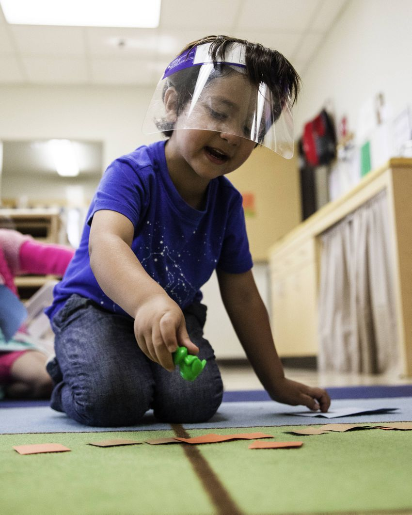 Dominic Morin learning as he plays at Pre-K 4 SA centers.