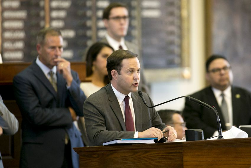 State Rep. Dustin Burrows, R-Lubbock, on the House floor on May 25, 2019.