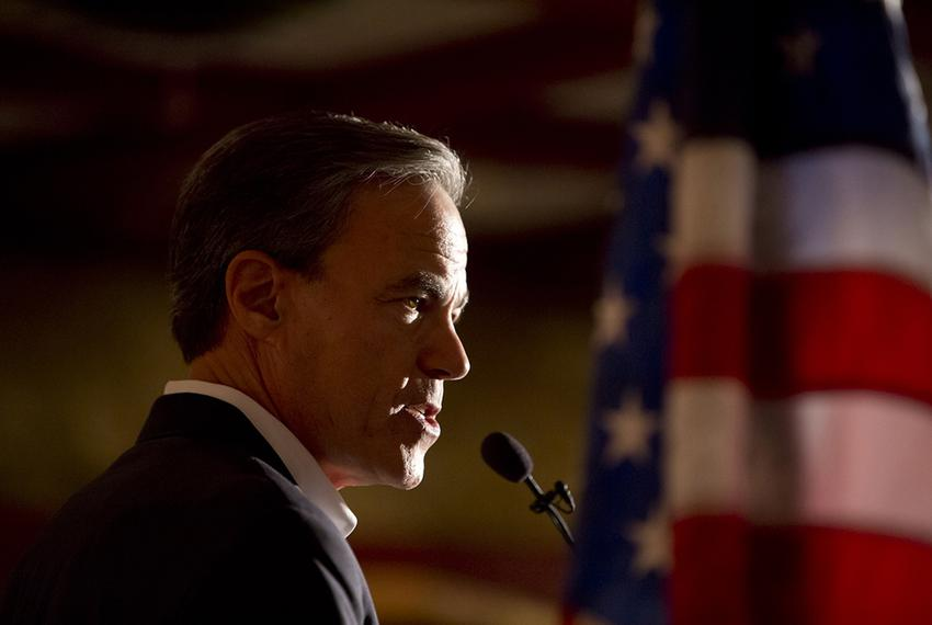 House Speaker Joe Straus, R-San Antonio, campaigns for re-election at The Barn Door restaurant in San Antonio on Jan. 21, ...