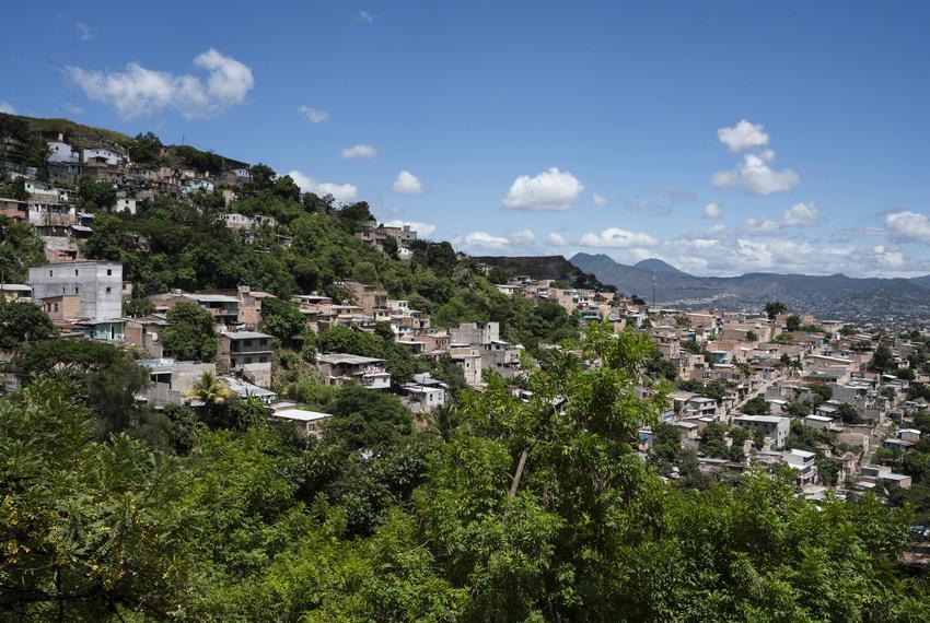 View of a neighborhood near Tegucigalpa, Honduras.