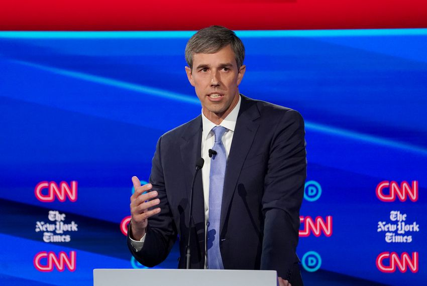 Democratic presidential candidate Beto O''Rourke speaks during the fourth U.S. Democratic presidential candidates debate on Tuesday.