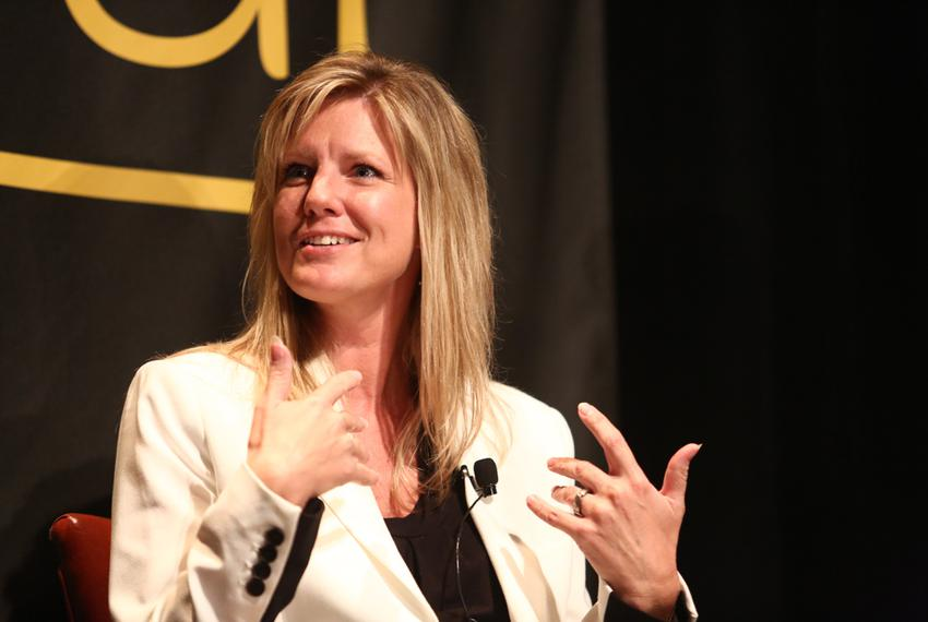 Julie McCarty during the 'What Does The Tea Party Want?' keynote session of The Texas Tribune Festival on Sep. 28, 2013.