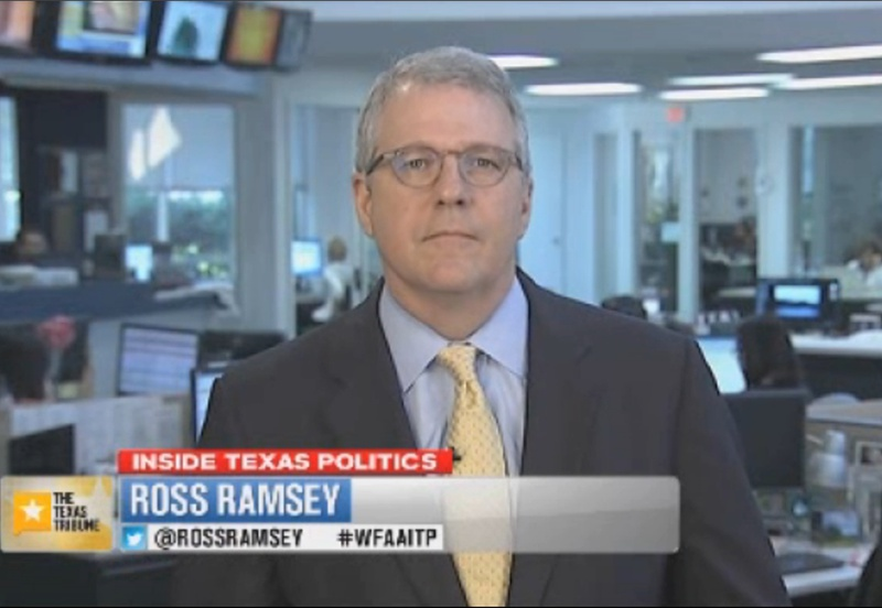 "Texas Tribune Executive Editor Ross Ramsey on WFAA-TV's ""Inside Texas Politics"" on June 1, 2014."