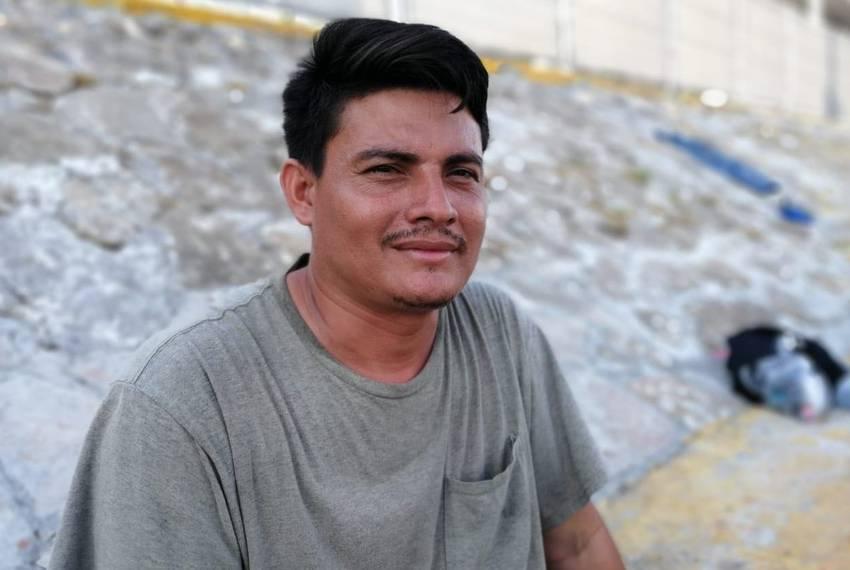 Genaro Martinez at an immigration checkpoint in Nuevo Laredo on Aug. 7, 2019.
