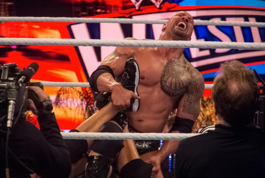 WWE Wrestlemania 28, The Rock vs John Cena on April 1, 2012.