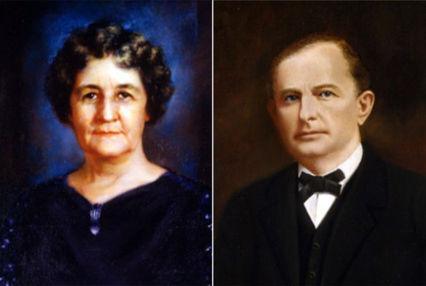 "Miriam ""Ma"" Ferguson, who served as the 29th and 32nd Governor of Texas, and her husband James ""Pa"" Ferguson, who was the 26th governor, his term cut short after he was impeached and removed from office."