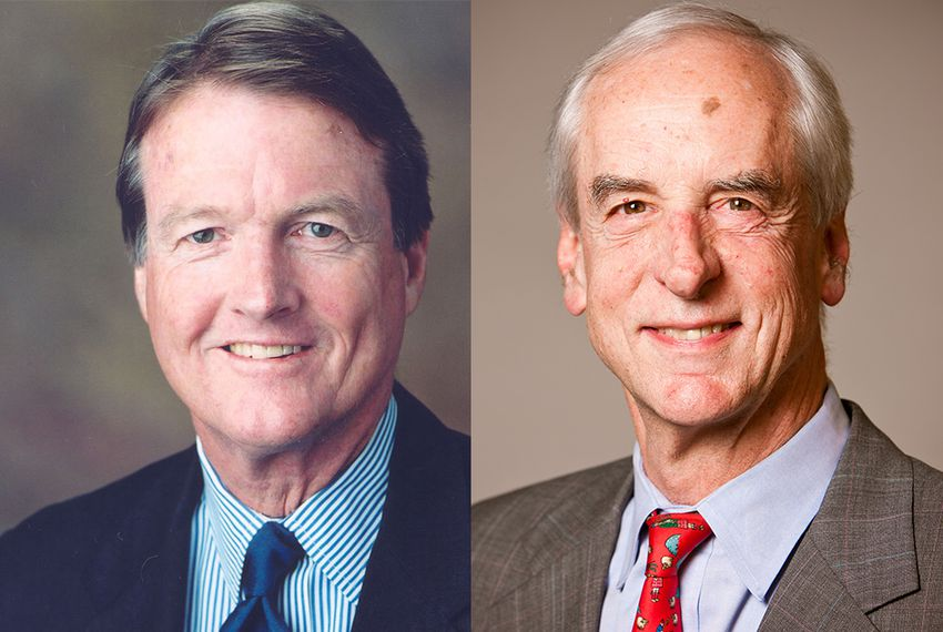 UT-Austin President Bill Powers, left, and Hunter Rawlings, president of the Association of American Universities.