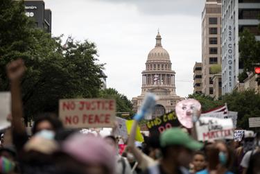 Protesters marched against the killing of George Floyd by Minneapolis police officers on May 31, 2020.