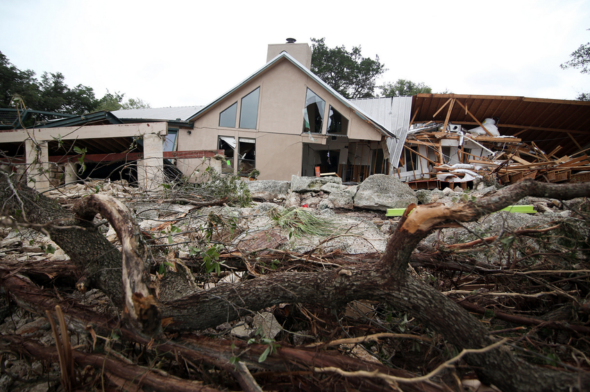 A flood-damaged house in Wimberley, May 25, 2015.