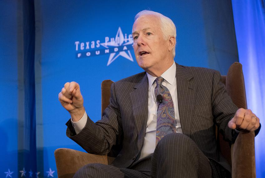U.S. Sen. John Cornyn speaks at a conference hosted by the Texas Public Policy Foundation on Jan. 13, 2017, at the Sherato...
