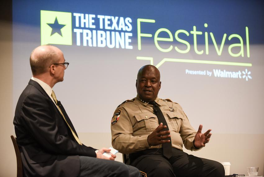 "Jay Root, reporter for The Texas Tribune, moderated the ""Immigration and the Cities"" panel featuring Greg Hamilton and Lup..."