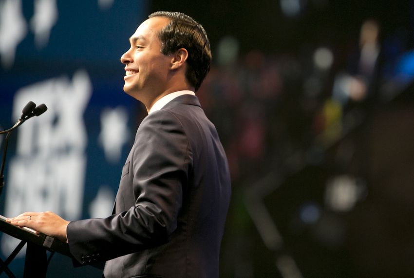 U.S. Housing Secretary Julián Castro gave the keynote speech on June 17, 2016, during the Texas Democratic Convention at the Alamodome in San Antonio.