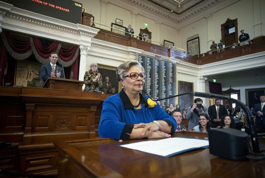 State Rep. Senfronia Thompson, D-Houston,  spoke on opening Day of the 86th session of the Texas Legislature.
