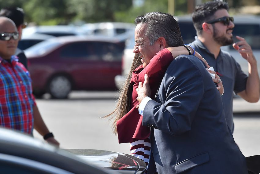 Former state Sen. Carlos Uresti after his sentencing hearing in San Antonio on June 26, 2018.