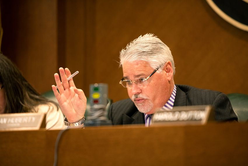 State Rep. Dan Huberty, R-Houston, chairman of the House Public Education Committee, hears public testimonies during a committee meeting.