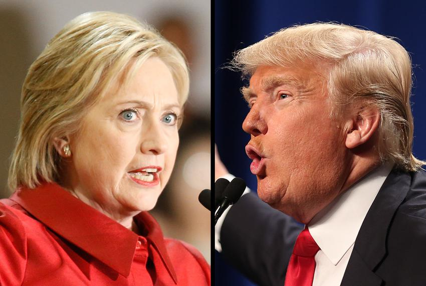 Democrat Hillary Clinton and Republican Donald Trump are facing off in the 2016 presidential election.