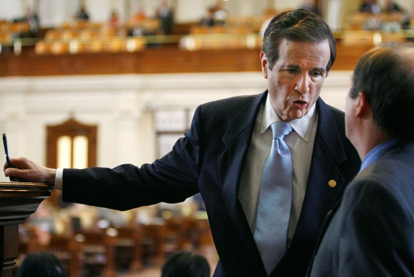 Former state Rep. Bill Zedler, R-Arlington, on the Texas House floor in 2007