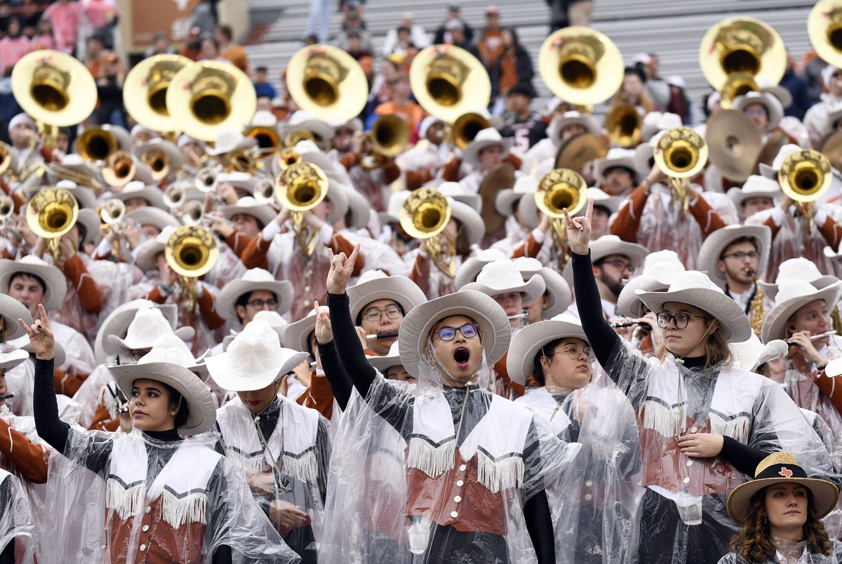 """University of Texas Longhorn band won't play """"The Eyes of Texas"""" this weekend after some members say they're unwilling"""