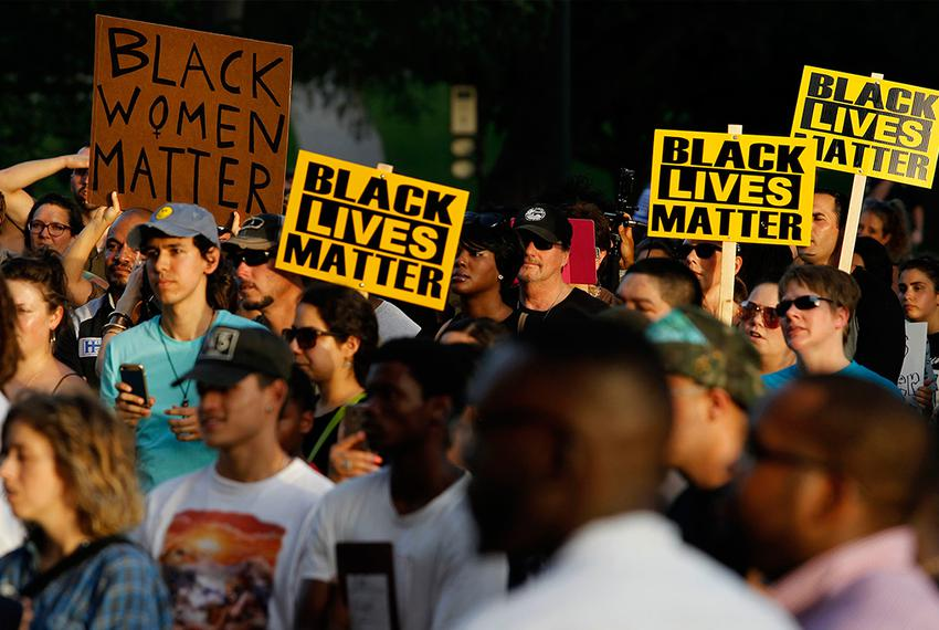 A Black Lives Matter protest at the Texas State Capitol Friday, July 15, 2016.