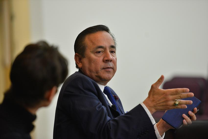 State Senator Carlos Uresti, D-San Antonio, at a Texas Tribune legislative preview on Dec. 2, 2016. Uresti's San Antonio off…
