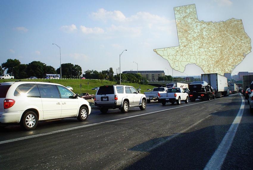 Traffic congestion on Interstate 35 in Austin. The freeway through central Austin is among the state's most congested road...