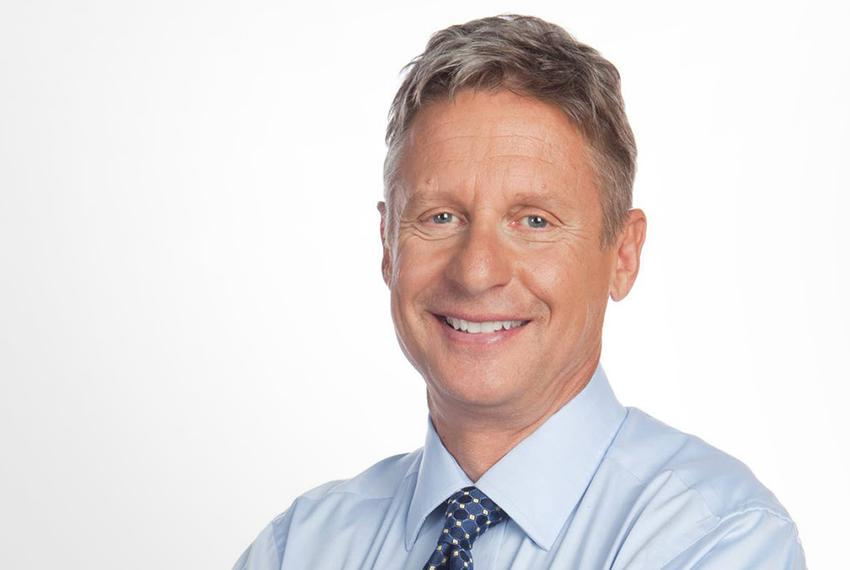 Gary Johnson, Libertarian candidate for president.