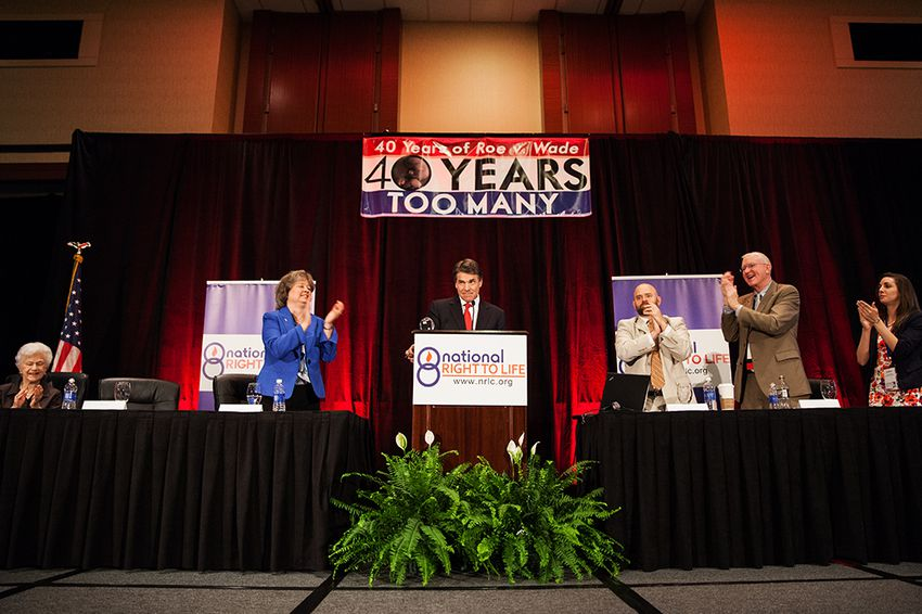 Gov. Rick Perry addresses the National Right to Life convention in Dallas on June 27, 2013.