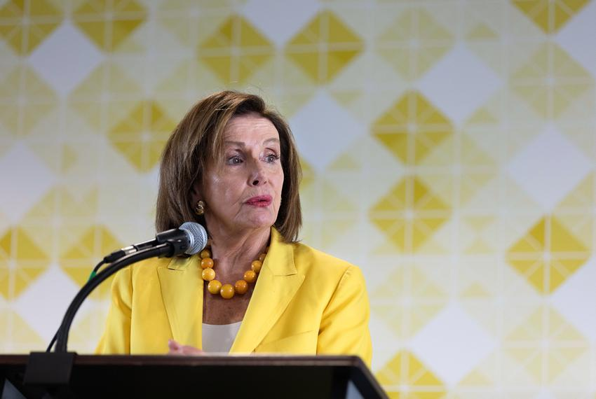 U.S. House Speaker Nancy Pelosi, D-California, at a press conference at Foundation Communities in Austin on Sept. 2, 2021.