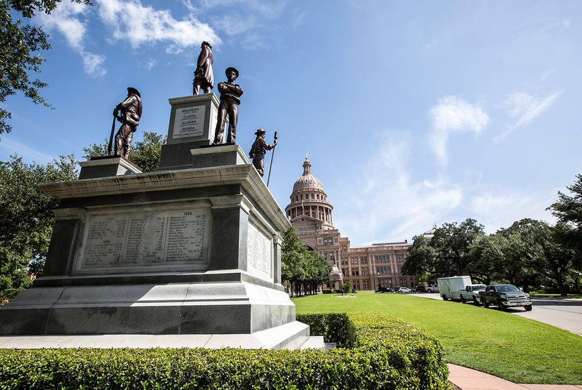 The Confederate Soldiers' Monument on the south lawn of the state Capitol in Austin.