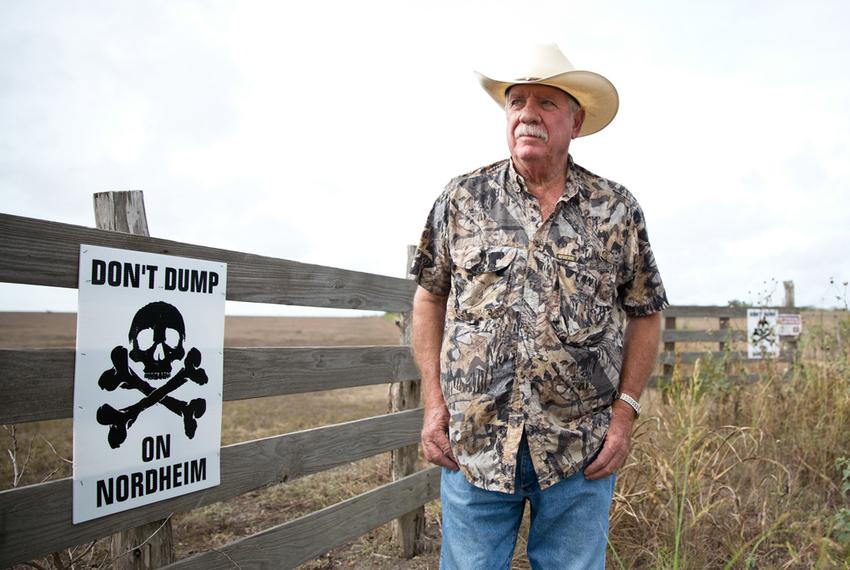 Paul Baumann's property, owned by his family for generations, is directly next to a proposed drilling waste dump in the smal…