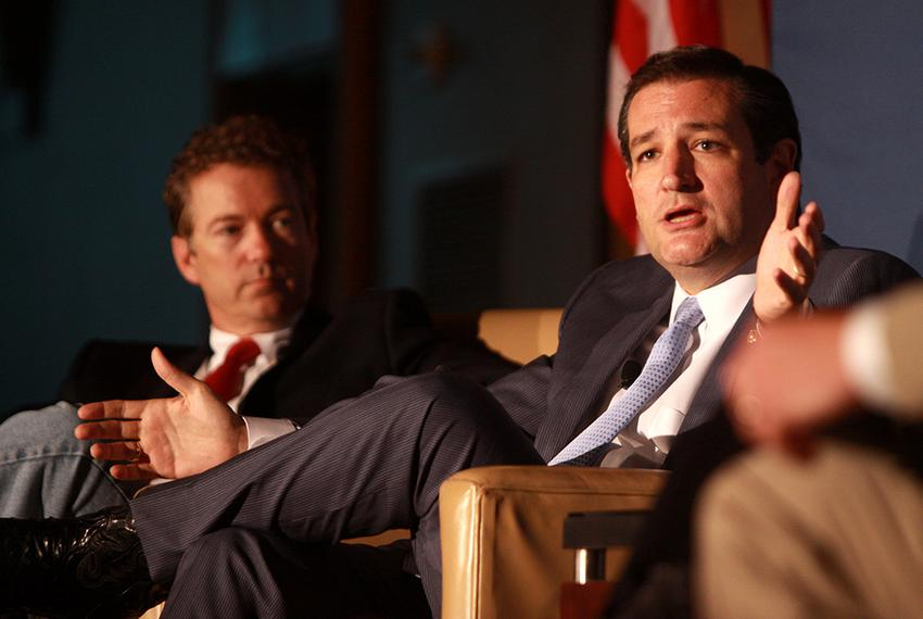 U.S. Sens. Rand Paul and Ted Cruz speaking at the 2013 Young Americans for Liberty National Convention at George Mason Unive…