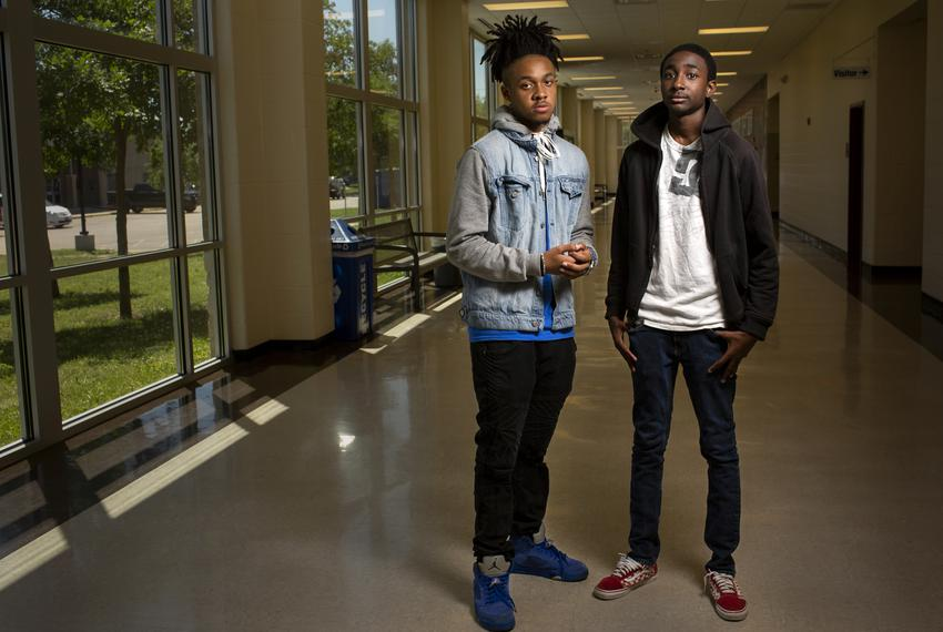 Students at Round Rock High School Ahmir Johnson, left, and Addison Savors, right, at school on April 26, 2019. The expans...