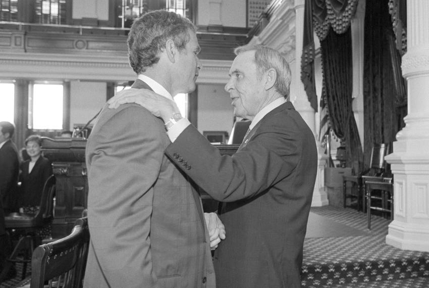 From left: Then-Gov. George W. Bush and Lt. Gov. Bob Bullock.