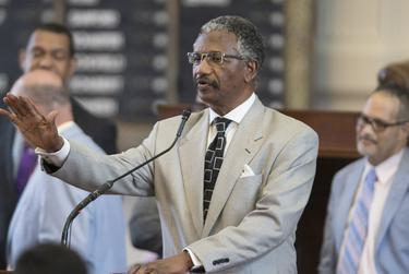 State Rep. Harold Dutton, D-Houston, gives closing arguments on House Bill 122, which would raise the age of criminal responsibility in Texas from 17 to 18. The House passed the bill 92-52 on April 20, 2017.