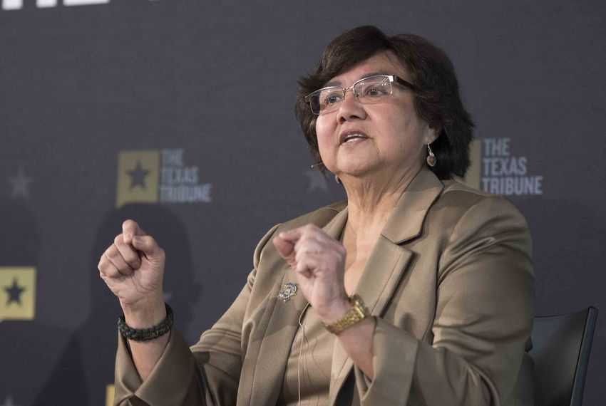 Democratic gubernatorial candidate Lupe Valdez of Dallas answers audience questions at a Texas Tribune event on Jan. 18, 2018.