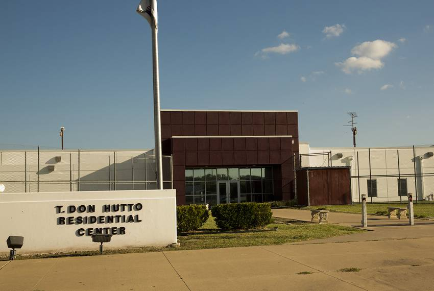 The T. Don Hutto Residential Center in Taylor,  an immigrant detention facility for adult women.