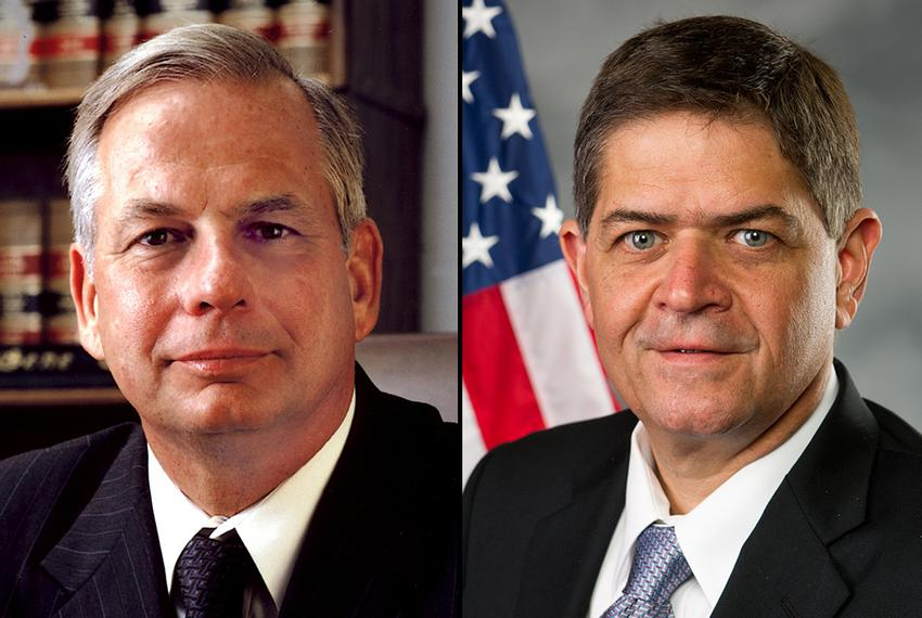 U.S. Reps. Gene Green, left, and Filemon Vela.