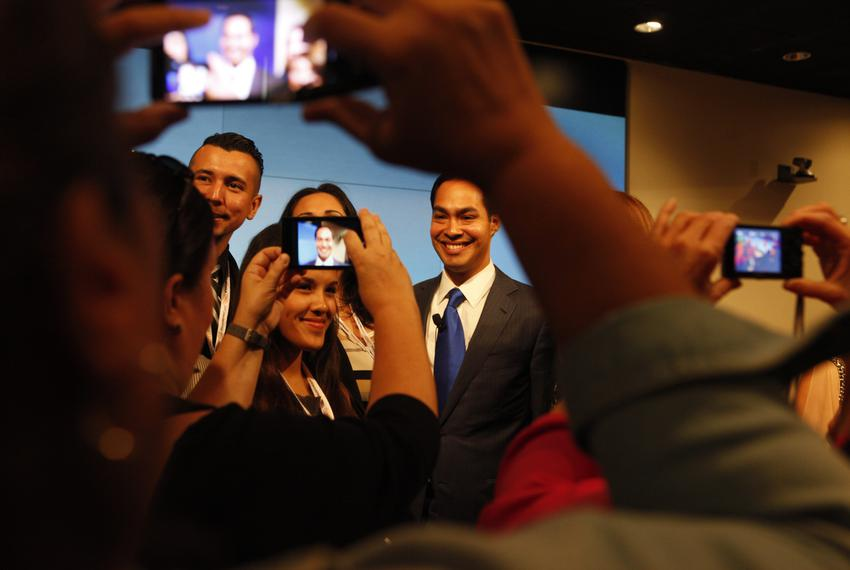 San Antonio Mayor Julián Castro after a debate on the future of Texas politics with Ted Cruz at The Texas Tribune Festival o…