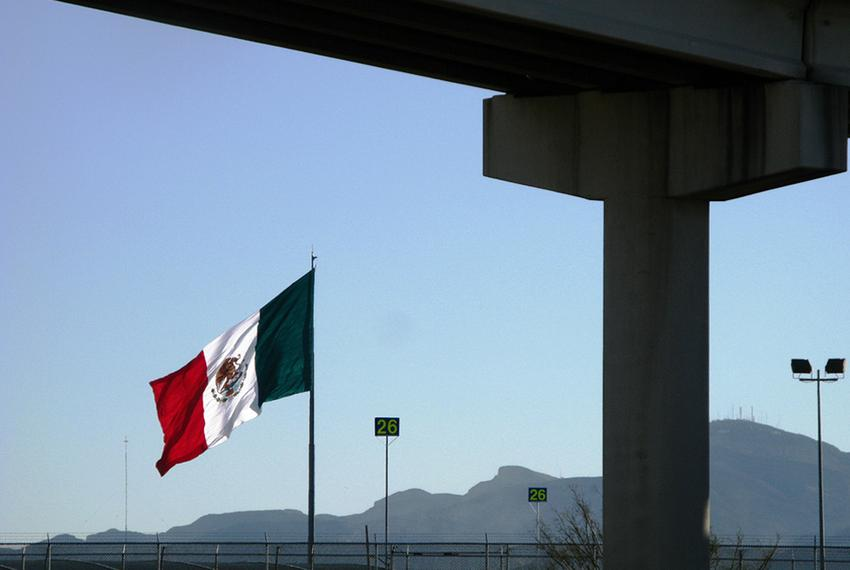 A view of the Texas-Mexico border from El Paso.