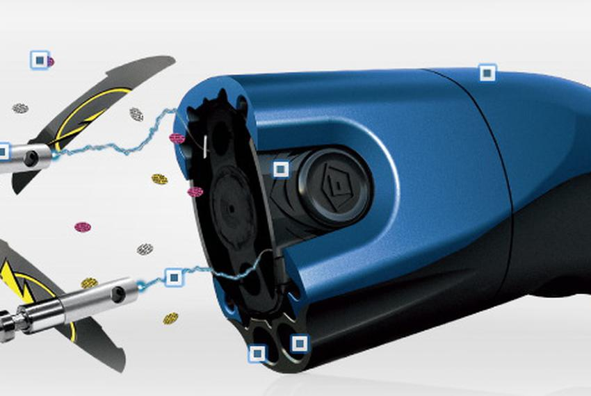 """A TASER C2, a """"electronic control device,"""" designed for use by civilians."""