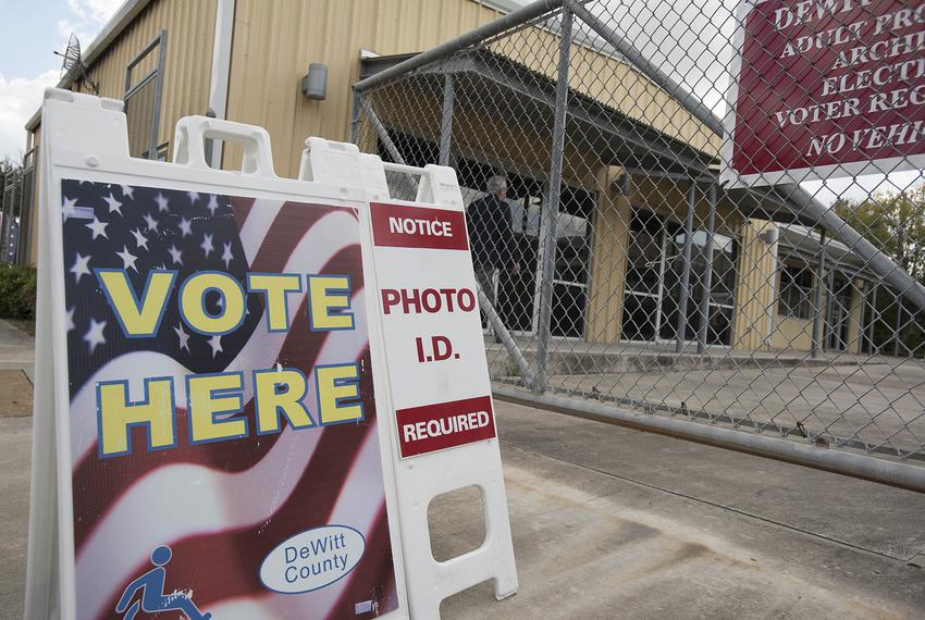 During the first week of early voting for the 2016 presidential elections, civil rights lawyers took issue with this sign ou…