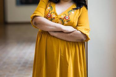 Portrait of Lucero Saldana at the UTSA Downtown Campus in San Antonio.