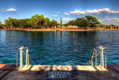 The spring-fed pool at Balmorhea State Park.