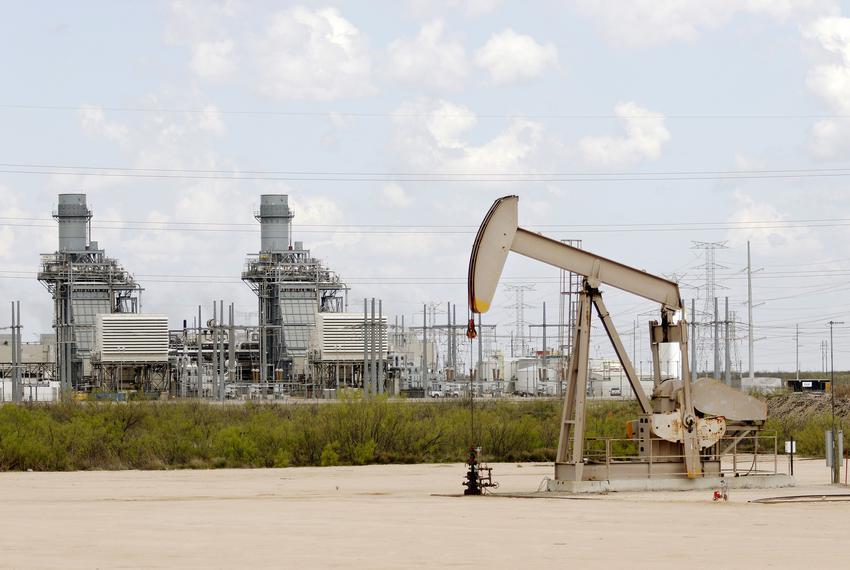 An oil pump jack near Odessa.