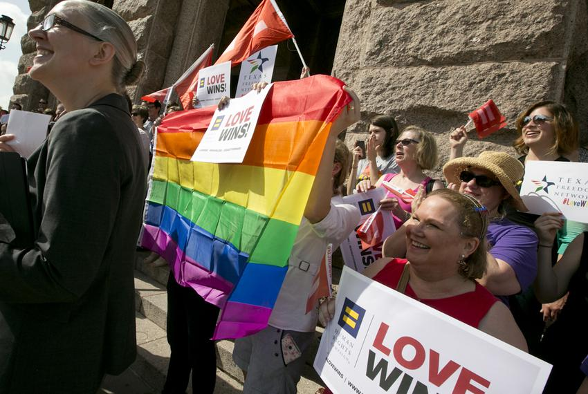 Human Rights Campaign press conference at Texas Capitol on June 29, 2015 just a few days following the SCOTUS ruling on marr…