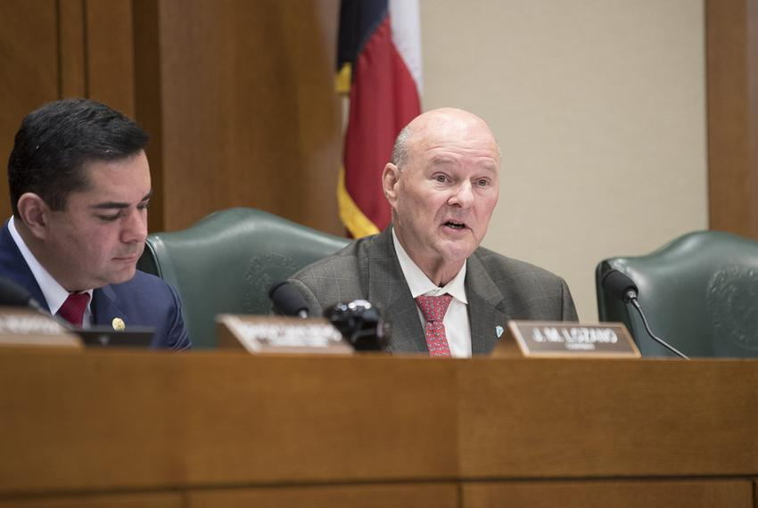 State Rep. John Raney, R-College Station, lays out his bill HB 355 in the House Higher Education Committee on March 22, 2017…
