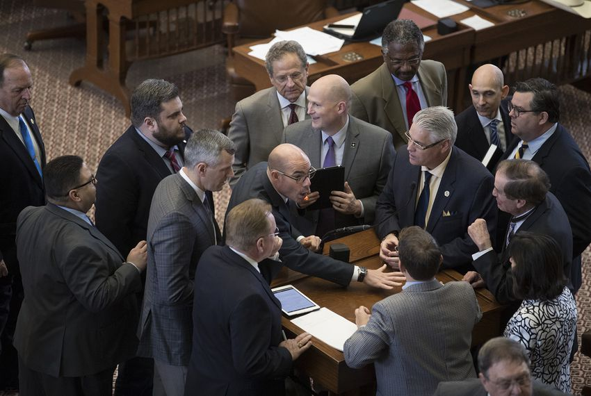 State Rep. Dennis Bonnen, R-Angleton, leads a discussion on House Bill 501, an ethics bill, onMay 3, 2017. The bill passed, 147-0.