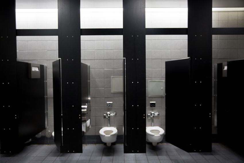 Bathroom stalls at the Austin Convention Center.