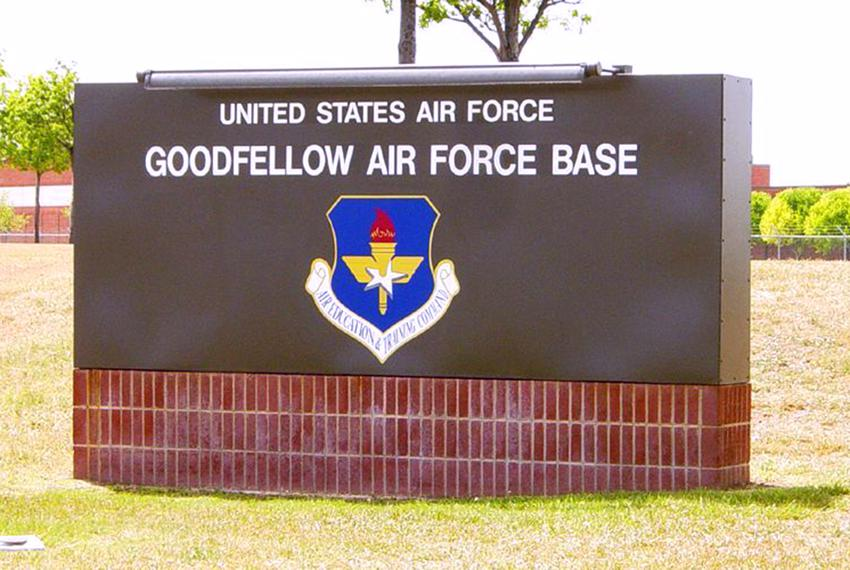 The Goodfellow Air Force Base in San Angelo, Texas.