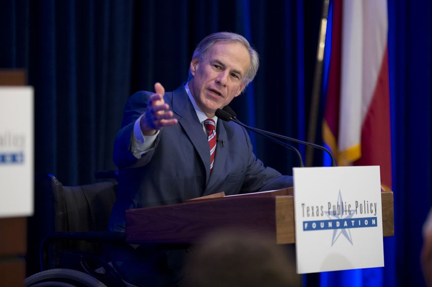Gov.-elect Greg Abbott gives a speech at a Texas Public Policy Foundation conference on Jan. 8, 2015.